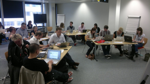 #BBCdigjo delegates busily creating content for their new micro-blogs