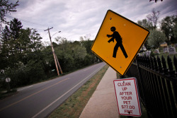 PEDM 5.9.11 Is street art still illegal? #zombie apocalypse government issued street sign.