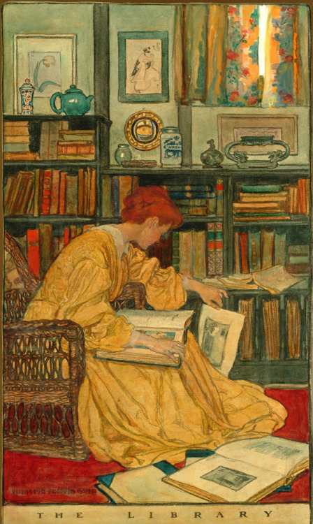 The Library Elizabeth Shippen Green. 1905