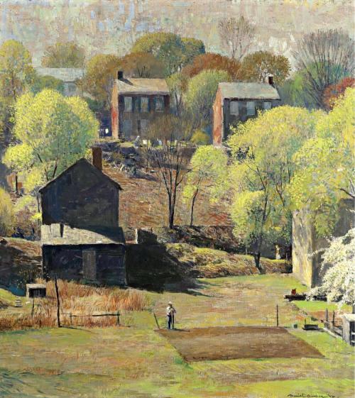 crashinglybeautiful:  Daniel Garber, In the Springtime (1954). Thank you, theshipthatflew & blueruins