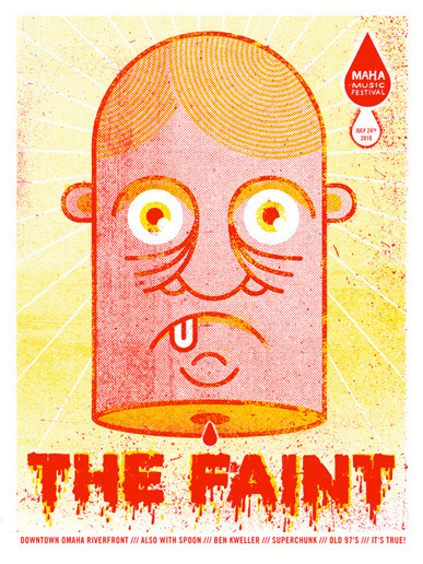 weandthecolor:  The Faint Maha Poster Poster Illustration by doe eyed. More poster design inspiration. __posted by weandthecolor // facebook // twitter