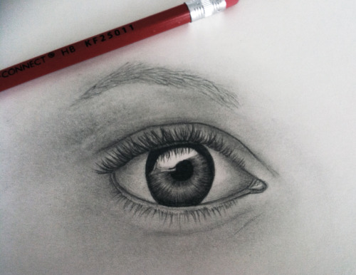 Eye drawing -  I am preparing for my drawing class at St. Martins College. This was based on a tutorial from the internet. It took me about 30 minutes… phew!