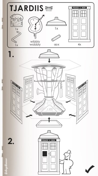 loveallthis:  How to build a Tardis, courtesy of Ikea. from CollegeHumor.  Design Candy + Dr. Who!