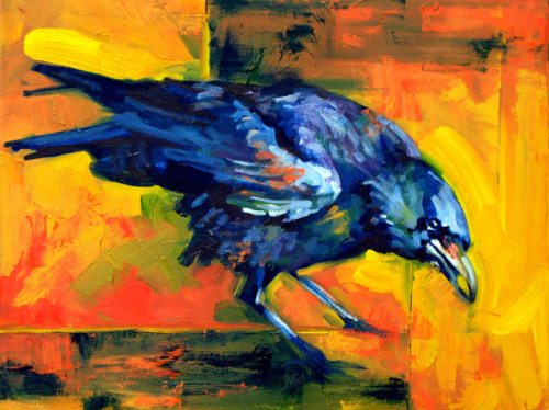 Crow; by Adrienne Dagg