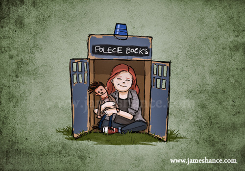 redheadedgirl:  From James Hance, if I had watch Doctor Who at the same age that I watched Star Trek or Star Wars, this would have been me :)
