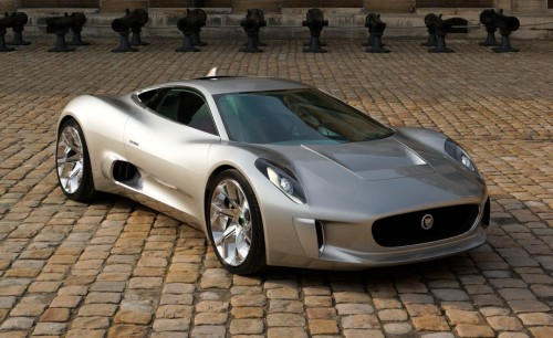 The Jaguar C-X75 will be as clean-running as a Smart Fortwo city car, but with a claimed 0-to-60-mph sprint of less than 3.0 seconds.