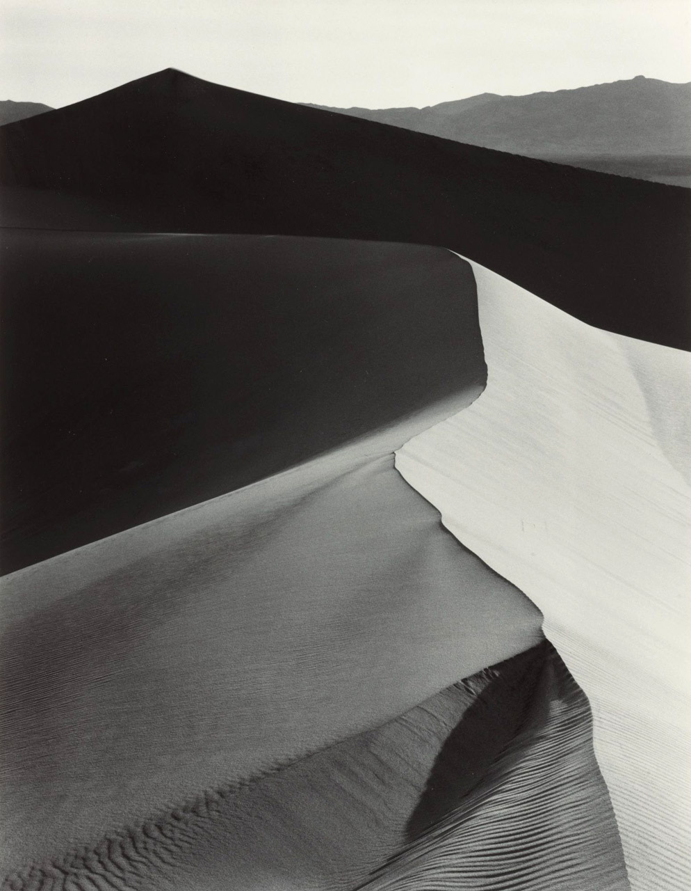 Ansel Adams, Sand Dunes; Sunrise, Death Valley,1948. Thank you, melisaki.