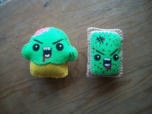 Zombie Cupcake and Poptart magnets!