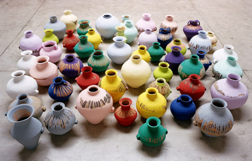 rustybreak:  Coloured Vases by Ai Weiwei.