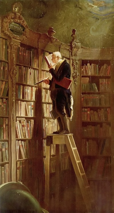 artandopinion:  The Bookworm 1850 Carl Spitzweg
