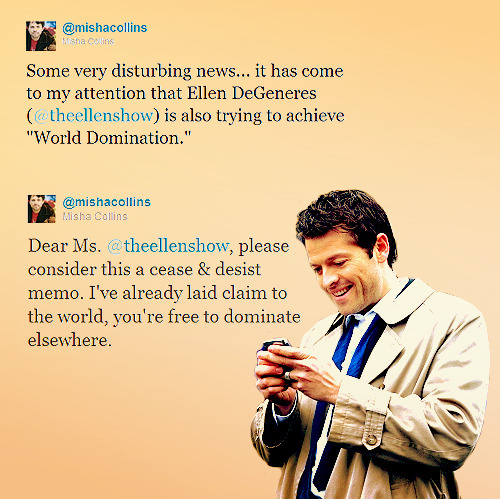 Favorite Misha tweets