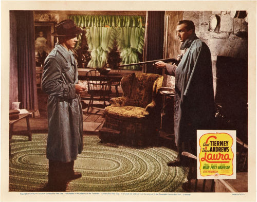 Lobby card for Laura (1944), Vincent's personal favorite.