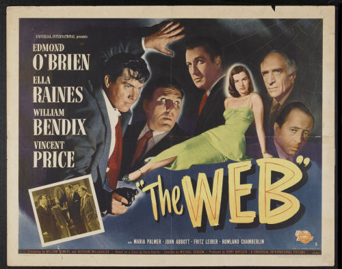 Half sheet for The Web (1947)