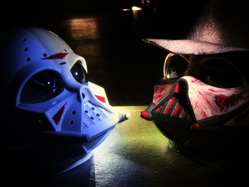 koldunkisloty:  Freddy Vader vs Darth Jason // By: partnumber88 See Freddy & Jason mask separately on flickr AWESOME!!!!!