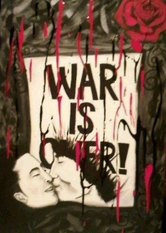 Yoko Ono and John Lennon, War is Over Artist: AshleyMariexo Media: Acrylic on Canvas