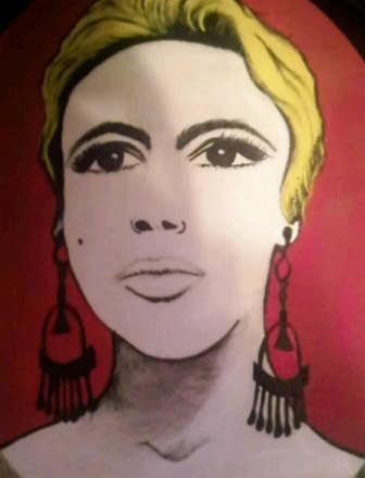 Edie Sedgwick Artist: AshleyMariexo Media: Acrylic on Canvas