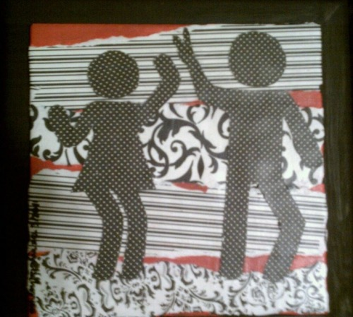 Dance Fever Artist: AshleyMariexo Media: Decopadge on wooden framed tile.