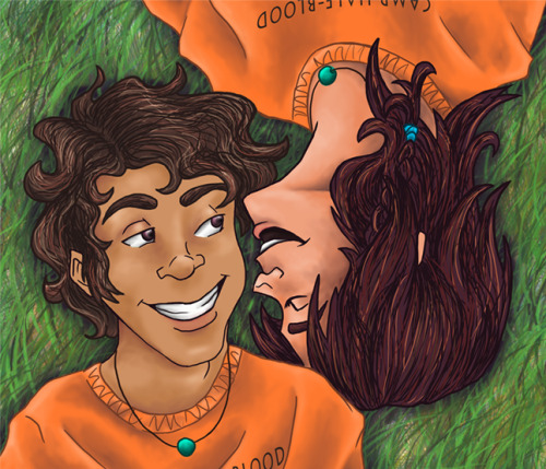 Piper McLean and Leo Valdez- Friends Art by Yuri Meister AKA Our Nico di Angelo
