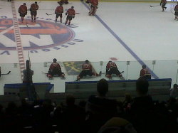 Hey, I like hockey! Who knew?! ;) Annual FDNY vs NYPD hockey game. Respect.