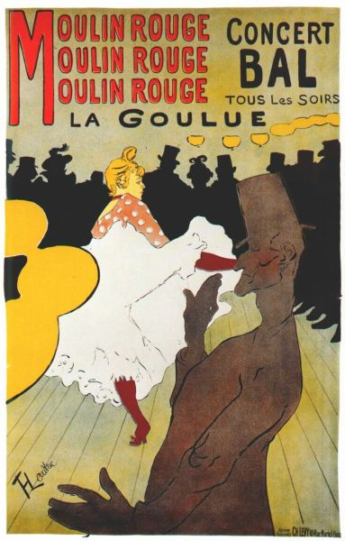 poundoflogic:  A vintage Art Nouveau Poster advertising the Moulin Rouge