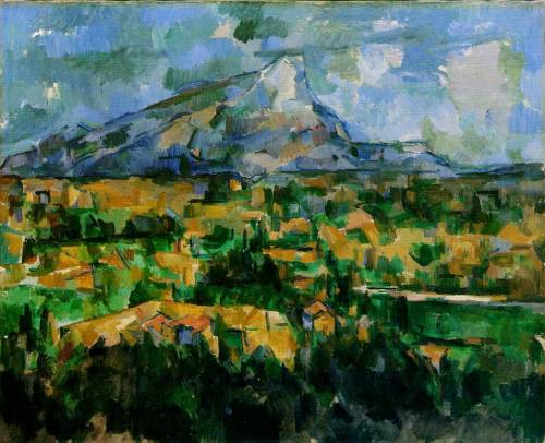 Monte Sainte- Victoire Paul Cezanne Post Impressionism 1902-1904 medium-painting