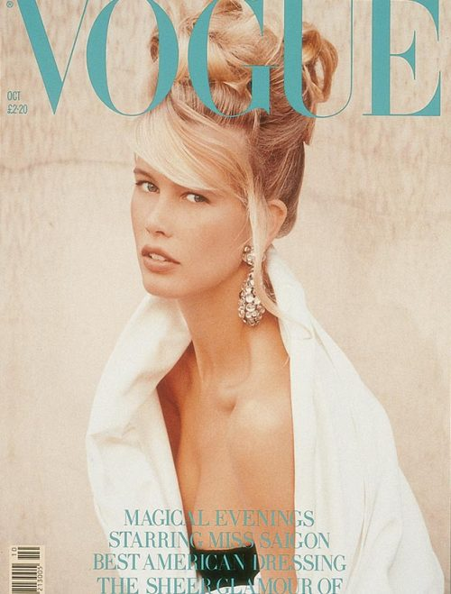 Claudia Schiffer for Vogue UK