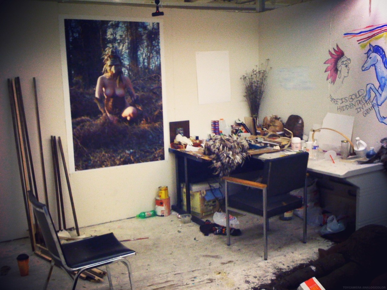 studio view. print number one. 3ft by 5ft. is this real life?