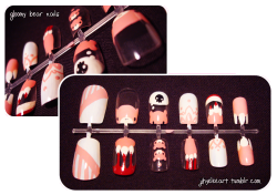 Another set of Gloomy Bear nails, this time trying different designs. Thoughts?