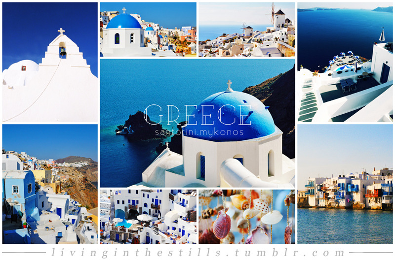 Travel Collage #1: GreeceCities included: Santorini & Mykonos Travel Collage List