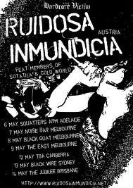 We haver been ever so excited about this one…Rudiosa Immundicia are effin amazing, and it's the last Teargas show before they head to the U.S. We have a special surprise in store also! xoxox