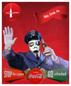 Retro Frank! Pretty cool. - To make your own retro Coca-Cola poster, click HERE.