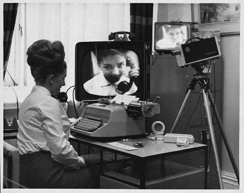 unexplainedcinema:  Skype.  Old school.