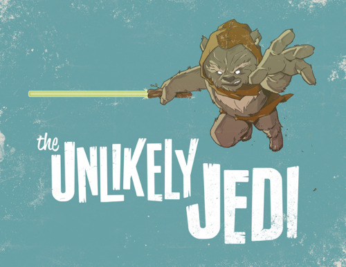 "No one saw this little Ewok Jedi coming thanks to Adam Limbert and his rad new illustration. Created for Planet-Pulp's current monthly ""Star Wars"" theme. Related Rampages: X-Men 