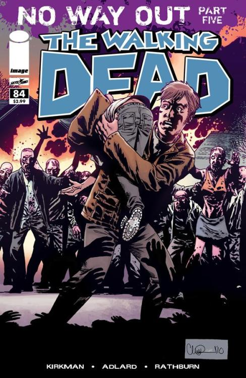 The cover for the latest issue of The Walking dead is too sick. Charlie Adlard's art always amazes me. Not to mention it's one of the best ongoing series on the shelf at the moment. If your not reading this you should be same goes for Chew also by Image comics. pick that shit up and treat your eyes xx