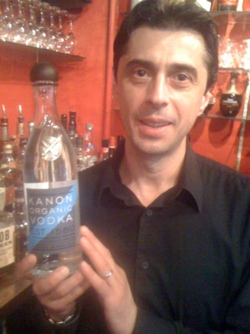 Stefan LOVES Kanon - our new SWEDISH & ORGANIC Vodka.   Come on in and try it!