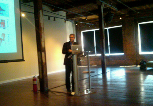 Eames Demetrios speaking at the SCAD Furniture Design Summit 2011 today in Savannah.