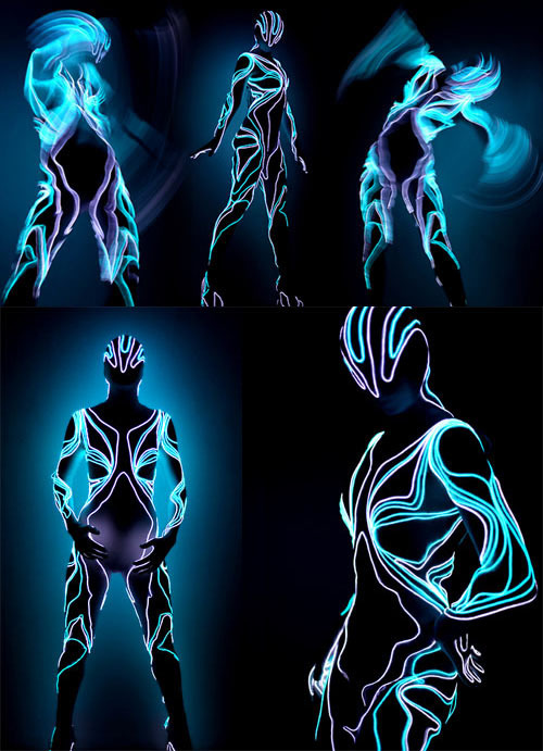 Lighted Suits by Visual Drugstore TRON suits. In real life. Want.