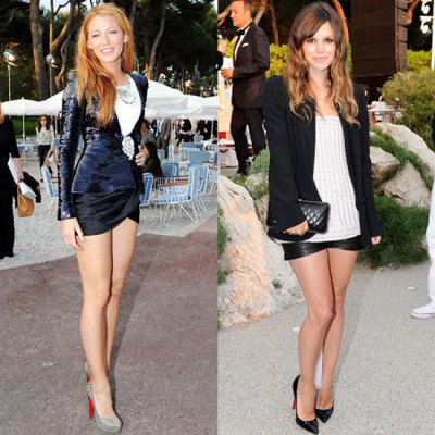 Blake Lively and Rachel Bilson at Chanel Show