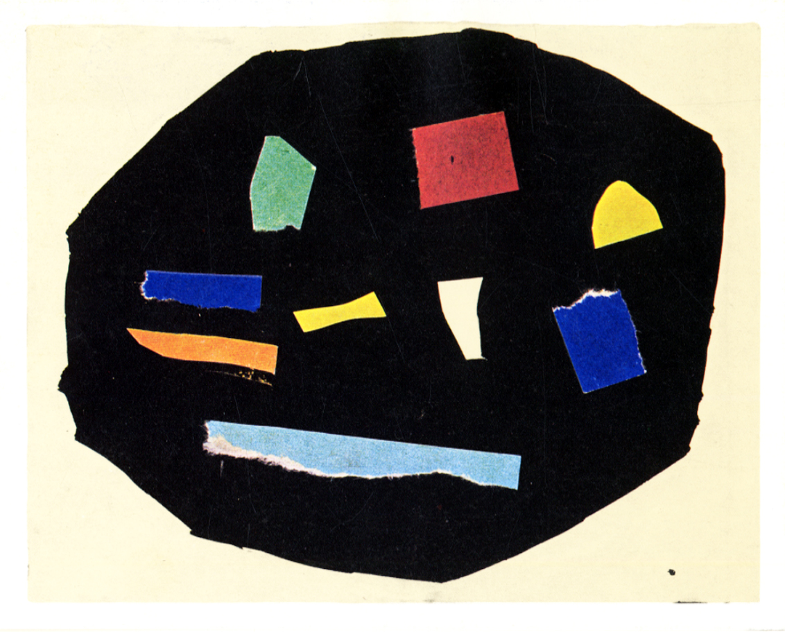 archiveofaffinities:  Ellsworth Kelly, Colors on Black, 1951
