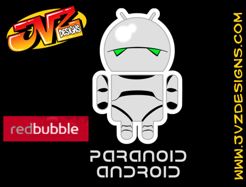 MARVIN THE PARANOID ANDROID Here he is, brain the size of a planet, being lumped in with all the other #droidarmy grunts! Available in T-Shirt and sticker form at REDBUBBLE. See all the rest of them from various artists here