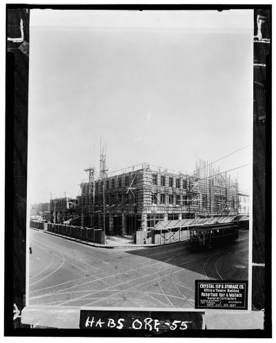 Construction of the Oriental Theater, Portland, OR. circa 1927
