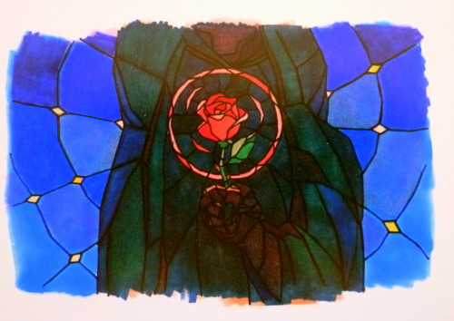 - Early concept art for the prologue of Disney's Beauty and the Beast (1991)