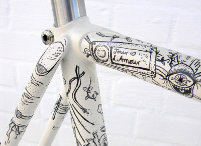 Illustrated Fixed Gear (by Eisenherz-Bikes)