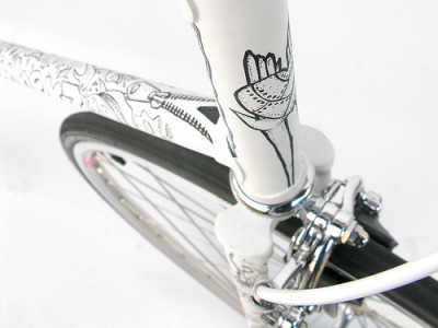 Illustrated Fixed Gear (by Eisenherz-Bikes) i spy zipper :D so cute!