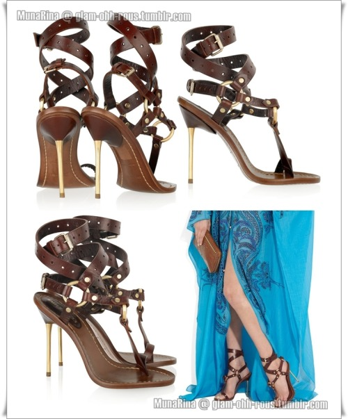 Emilio Pucci Leather T-bar sandals