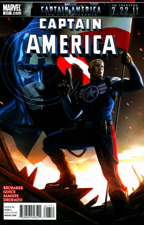 Captain America #617, June 2011, written by Ed Brubaker, penciled by Butch Guice, Mike Deodato and Chris Samnee