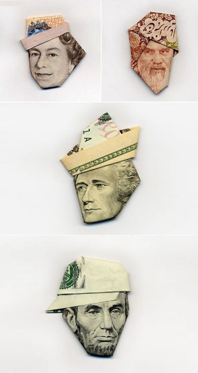 Moneygami by Hasegawa Yosuke  (via Lost at E Minor, Artistic Things)