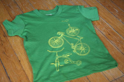 Wee are … finished with the test run for the 1.2.3. Cycle Tees.  The test prints will be selling in our shop.