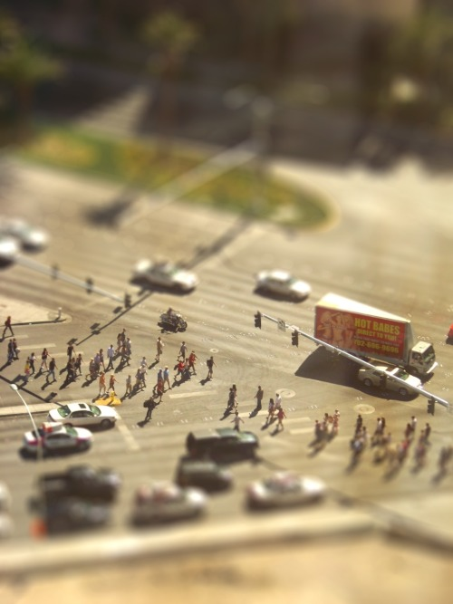 A Vegas tilt-shift for you… yes, its a fake effect.