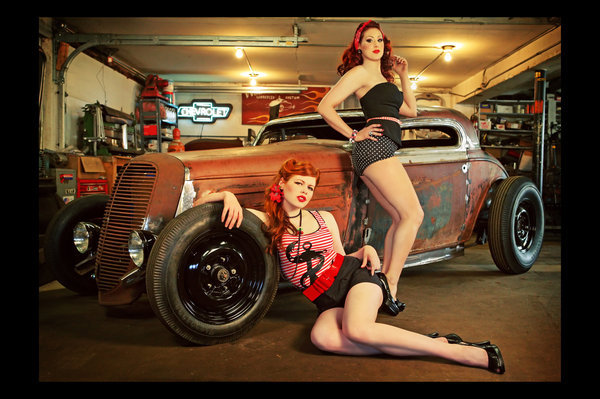 Rat rod trucks and nude girls